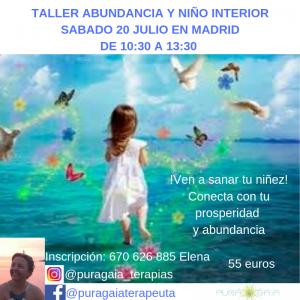 Taller presencial abundancia y niño interior - Madrid 20 julio de 10:30-13:30 @ El Retiro