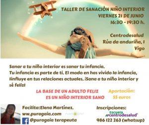 """Taller en Vigo 21 de junio """"Sana tu infancia"""" @ Escuela Centrodesalud"""