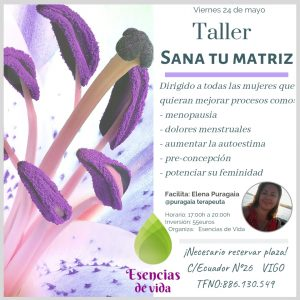 "Taller presencial ""Sana tu matriz"" en Vigo @ Esencias de Vida"